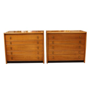 1970s Mid Century Modern Paul Frankl Johnson Bachelor Chests - a Pair For Sale