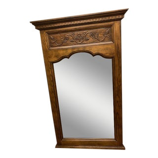Traditional Wooden Oak Wall Mirror For Sale