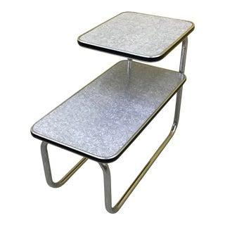 1940s Chrome Tubular Side Table For Sale
