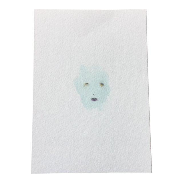 """Minimal Face 006"" Mixed Media Painting - Image 1 of 5"