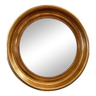 Round Empire Style Gold & Black Mirror by Randy Esada Designs For Sale