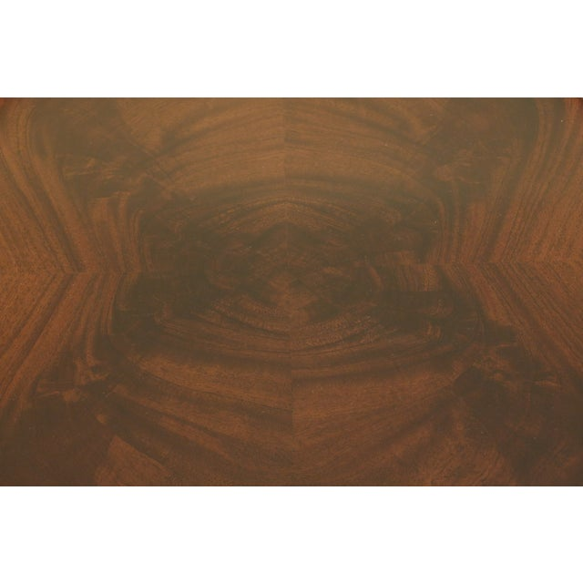 Maitland Smith Round Mahogany Tray Top Coffee Table For Sale In Philadelphia - Image 6 of 9