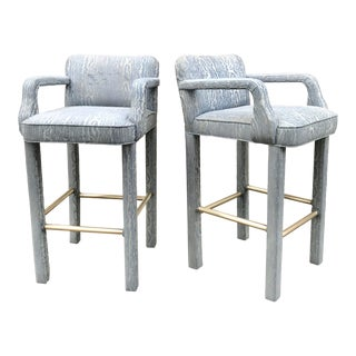 Vintage Parsons Bar Stools - a Pair For Sale