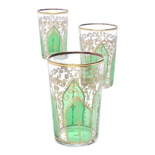 Tamansour Green Tea Glasses - Set of 6 For Sale