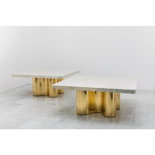 Modern Freeform Dining Table With Custom Goatskin Top, Usa For Sale - Image 3 of 4