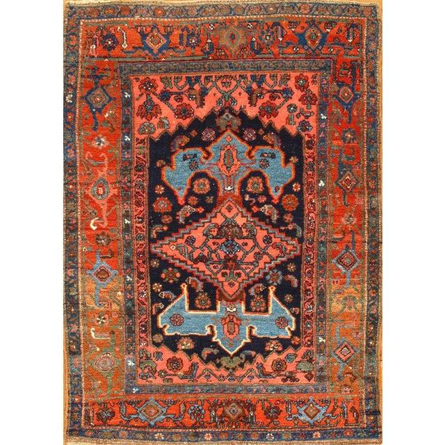 Original Antique Persian Bidjar. Handmade Hand-knotted. Lamb's Wool Pile on a Wool Foundation. Hand-Spun Wool Rug....