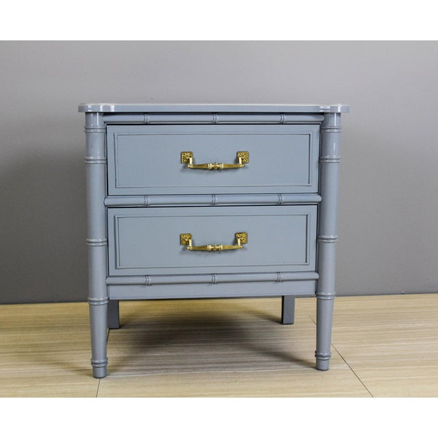 Vintage Palm Beach Style Nightstands - A Pair - Image 7 of 11