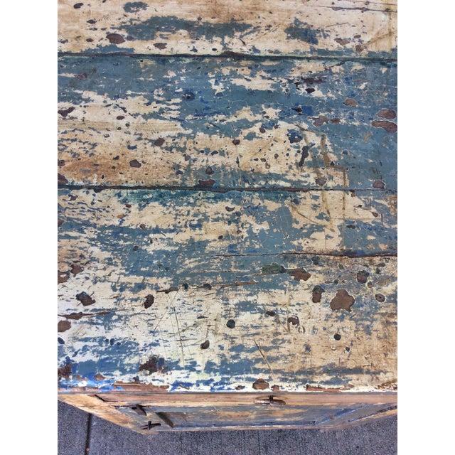 Blue Vintage Shabby Chic Desk For Sale - Image 8 of 10