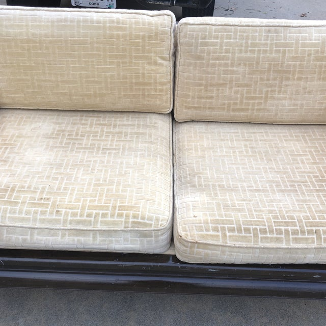 Asian Lamont Ming Chinoiserie Solid Wood Loveseat Sofa** For Sale - Image 3 of 7