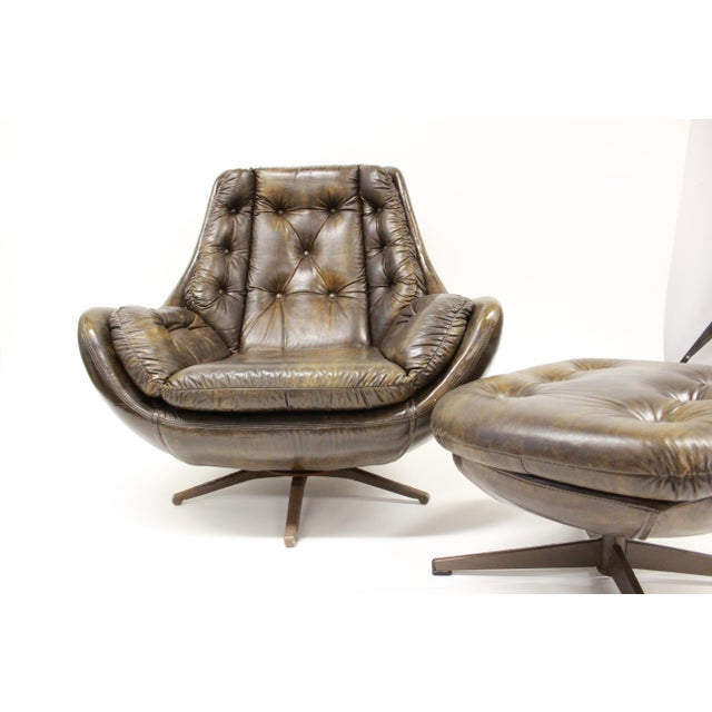 Mid Century Modern Carter Lounge Chair and Ottoman For Sale - Image 12 of 13