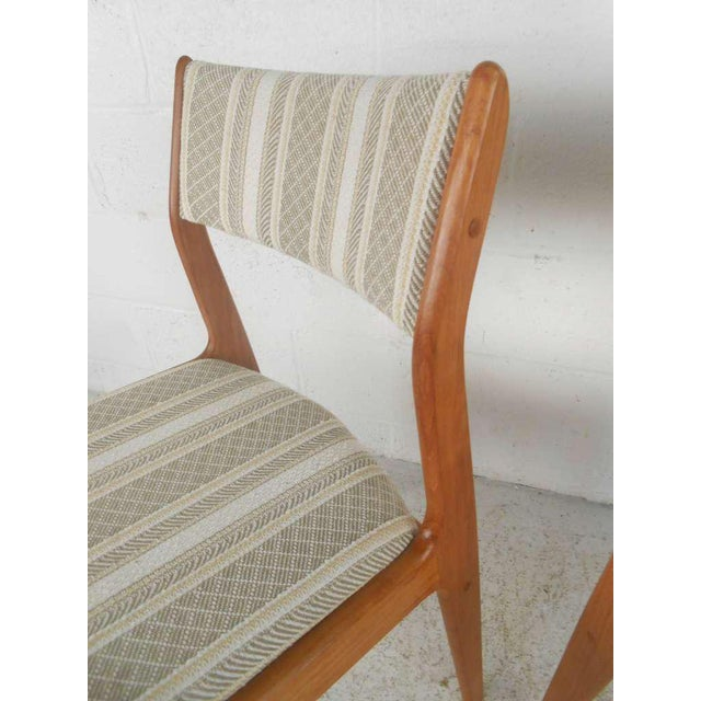 Tan Danish Modern Dining Chairs - Set of 6 For Sale - Image 8 of 9