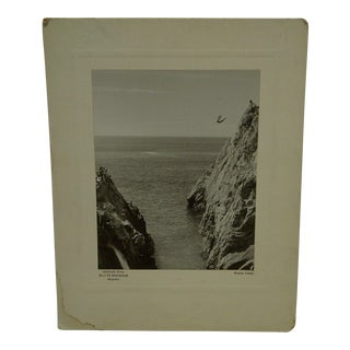 """Vintage """"Cliff Diver"""" Black & White Photograph by Ronnie Luster"""