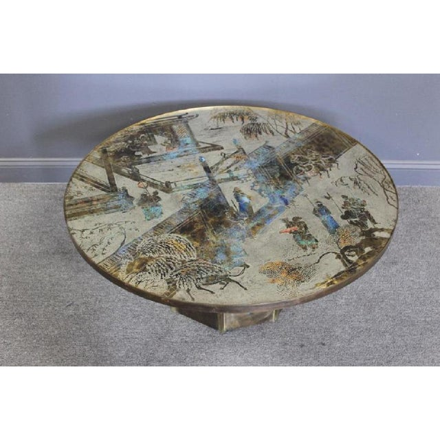 """Metal Phillip and Kelvin Laverne """"Chan"""" Coffee Table For Sale - Image 7 of 7"""