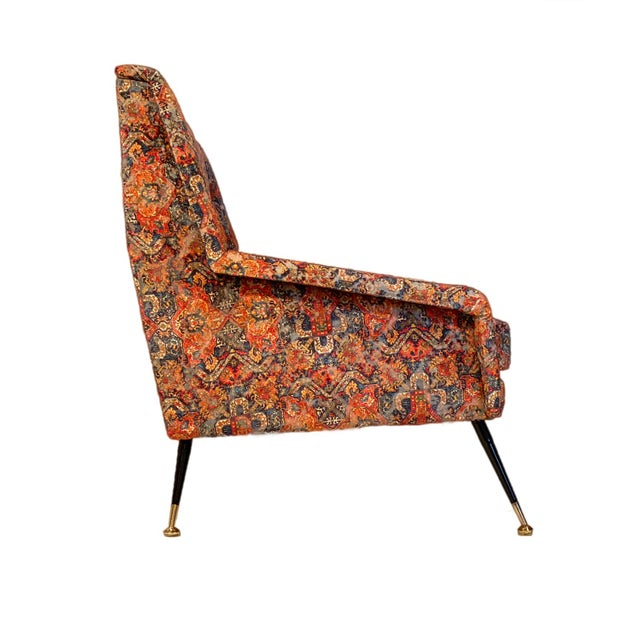 Vintage Italian Sofa With Rubelli Upholstery For Sale - Image 9 of 10