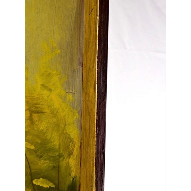 Late 20th Century Late 20th Century Painted Wood Four-Panel Hunting Scene Room Divider For Sale - Image 5 of 8