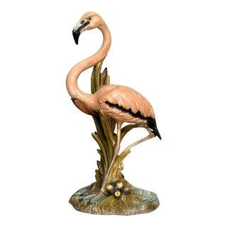 Standing Flamingo Garden Statue For Sale