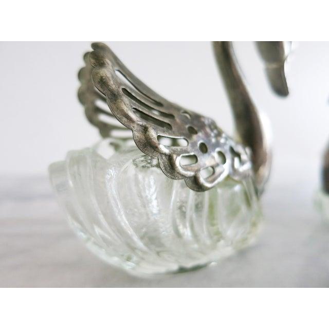 Late 20th Century Vintage Godinger Swans Salt Well - Set of 4 For Sale - Image 5 of 10