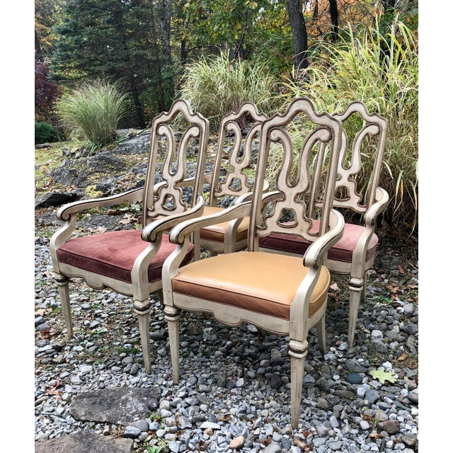 Gothic Vintage Italian Dining Chairs Set 4 For Sale - Image 3 of 12
