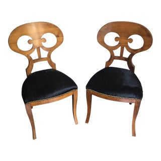 Pair of 19th Century Biedermeier Chairs For Sale
