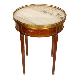 Louis XVI Style Bouillotte Marble Top Table For Sale