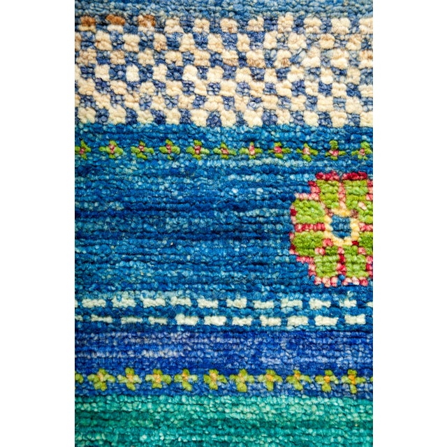 """New Hand-Knotted Striped Tribal Rug - 8'1"""" X 8'2"""" - Image 3 of 3"""