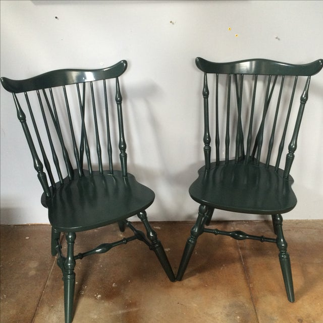 Windsor Lacquer Side Chairs - A Pair - Image 4 of 8