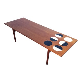 1950s Danish Modern Grete Jalk Eclipse Coffee Table For Sale