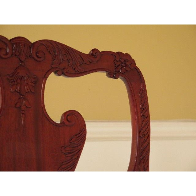 2000 - 2009 21st Century Georgian Mahogany Dining or Occasional Side Chairs- A Pair For Sale - Image 5 of 10