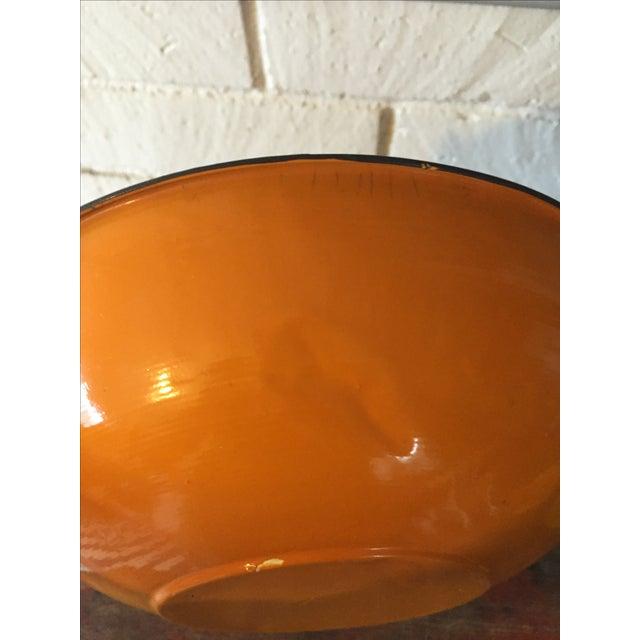5-Piece Orange & Black Rim Enamelware - Image 7 of 8