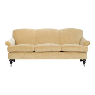 Kim Salmela Yellow Velvet Joplin Sofa For Sale