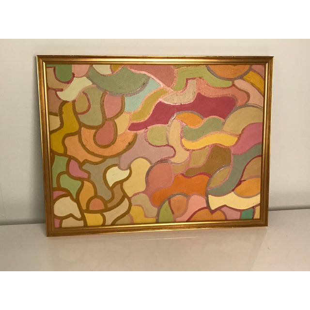 Lois Stecker Acrylic Abstract Painting For Sale In Los Angeles - Image 6 of 6