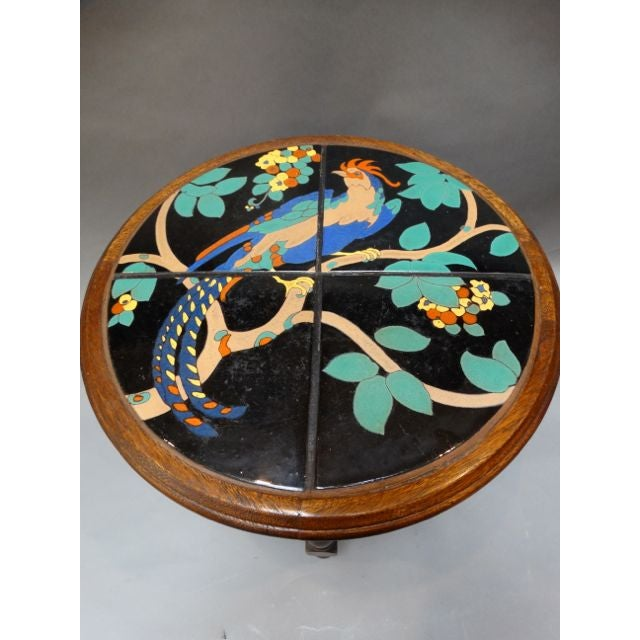 Pheasant Pond Round Taylor Tile Table - Image 4 of 5