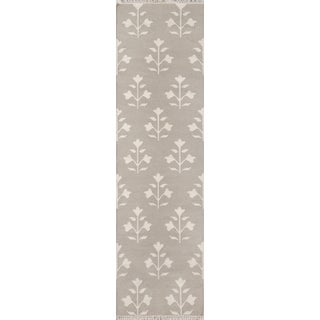 "Erin Gates Thompson Grove Grey Hand Woven Wool Runner 2'3"" X 8' For Sale"