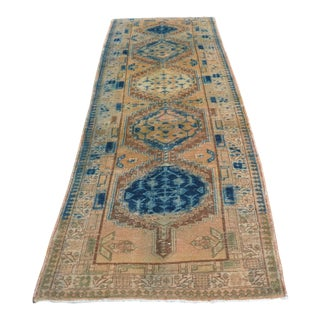 Handwoven Antique Persian Runner - 3′4″ × 10′8″