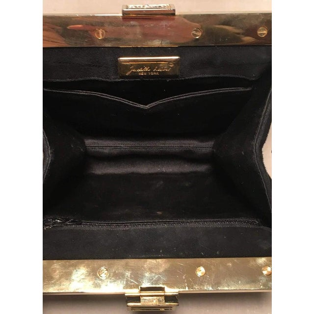 Judith Leiber Judith Leiber Black Suede Evening Bag Clutch With Silk Tassel For Sale - Image 4 of 10
