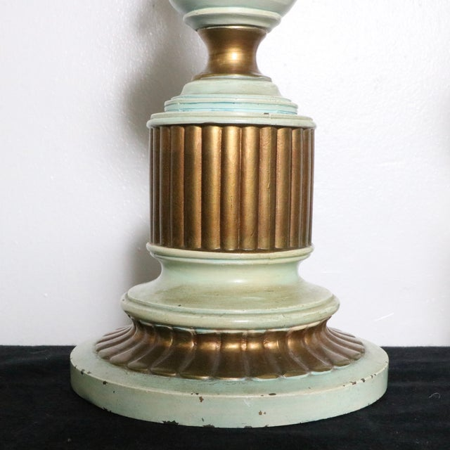 French Style Angel Table Lamps - A Pair - Image 8 of 8