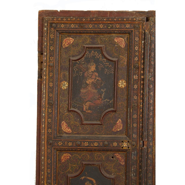 Mid 19th Century Antique Painted Doors - a Pair For Sale - Image 4 of 7