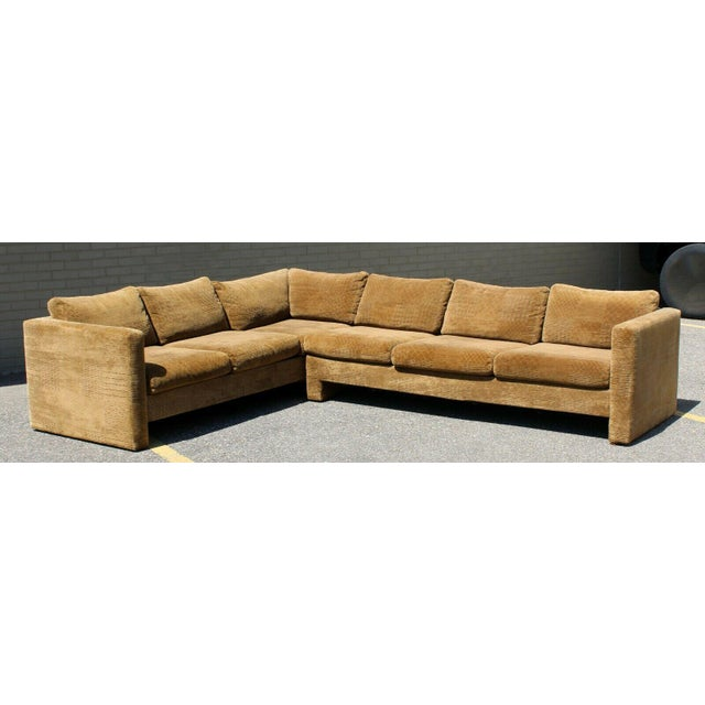 For your consideration is a mangificent sofa sectional by Selig of Monroe, made in Denmark, circa the 1970s. This two...
