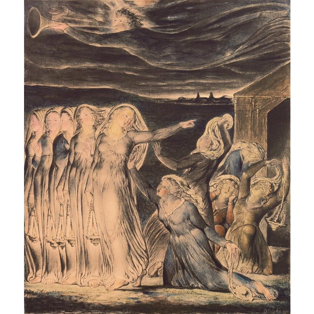 'The Parable of the Wise and Foolish Virgins' by William Blake, Proto-Symbolist Lithograph For Sale