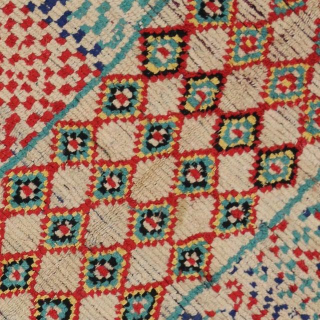 Vintage Moroccan Berber Tribal Motif Rug - 4′4″ × 8′6″ - Image 4 of 7