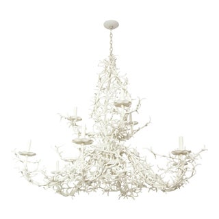 Large Nine-Arm Coral Chandelier For Sale