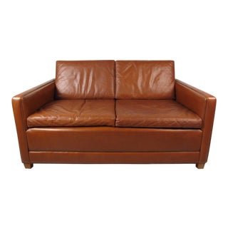 Børge Mogensen Leather Loveseat Sofa For Sale