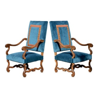 Louis XIV Style Os De Mouton Armchairs, a Pair For Sale