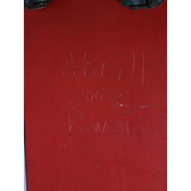 "Black Large Handmade Tramp Art Hawaiian ""Toy Ship"" Box For Sale - Image 8 of 9"