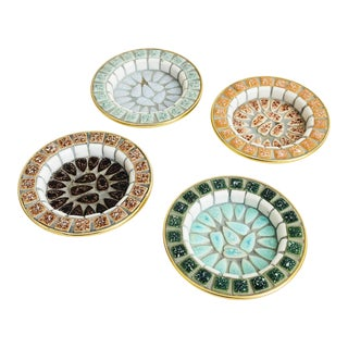 Mid Century Mosaic Pebble Coasters - Set of 4 For Sale