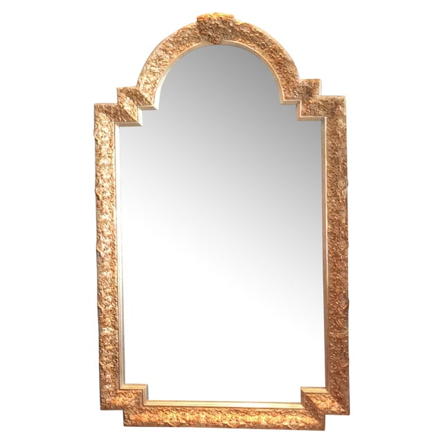 Carvers Guild White Pearl and Gold Mirror - Image 1 of 9