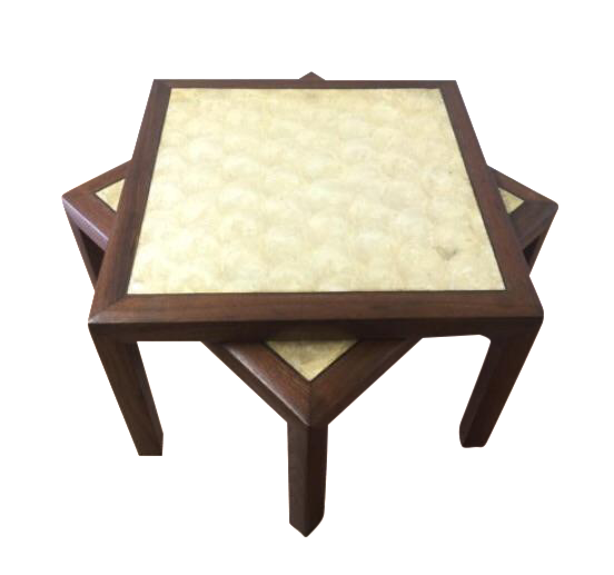 Capiz Topped End Tables - A Pair - Image 1 of 6