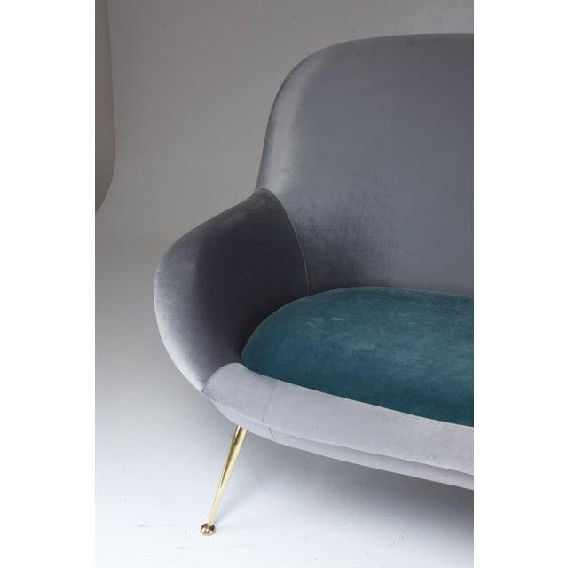 Mid-Century Modern Italian Midcentury Velvet Sofa Set by ISA Bergamo, 1950s For Sale - Image 3 of 13