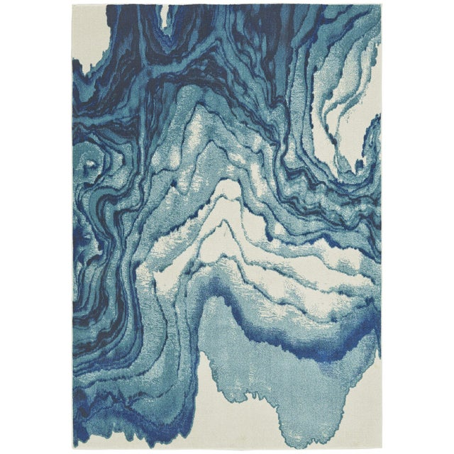 Contemporary Watercolor-Inspired Area Rug - 10' X 13' - Image 1 of 2
