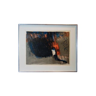 Vintage Swedish Abstract Lithograph For Sale
